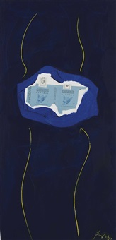 hb on yellow by robert motherwell