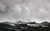 marine med skib i hoj so by jens thielsen locher