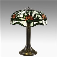 table lamp in lotus pattern by riviere