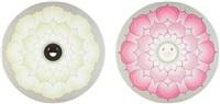 lotus flower (pink); and lotus flower white (2 works) by takashi murakami