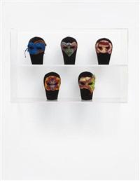 masks from un ballo in maschera by yinka shonibare mbe