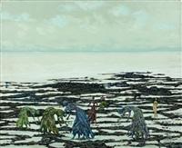 glaneuses de la mer, l'une etait nue by lucien coutaud