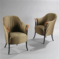 pair of progetti chairs by umberto asnago