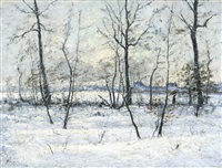 winter in de kempen by henry pieter edward rul