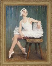 portrait of ludmilla by genrikh frantsevich brzhozovsky