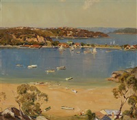 low tide, the spit, sydney harbour by james ranalph jackson
