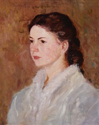 portrait of mabel brown by augustus vincent tack