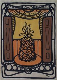 still life with pineapple by amelia peláez