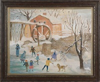 winter landscape by jeanne davies