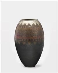 dinanderie vase by claudius linossier