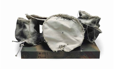 miniature soft drum set by claes oldenburg