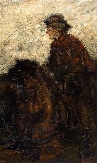 vrouw te paard by suze bisschop-robertson
