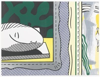 two paintings: sleeping muse (from paintings series) by roy lichtenstein