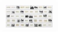 once upon a time in southern california (la in the 70s)(set of 15, various sizes) by allen ruppersberg