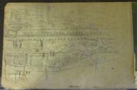 carnet de croquis et de dessins de 8 pages dont notre-dame vue des quais (8 sketches) by marcel françois leprin