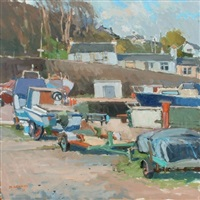 line of trailers, dunure by douglas lennox