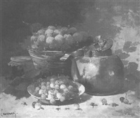 still life with fruit by laurence