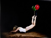 escape artist (green and red) by sam taylor-wood