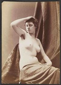 études académiques, nus féminins et masculins, détails (15 works) by louis jean baptiste igout