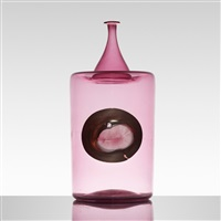 nerox murrine vase by vetreria fratelli toso