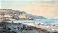 het strand bij rauba capeu te nice by pierre (henri théodore) tetar van elven