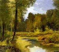 paisaje con río by antonio ros y guell