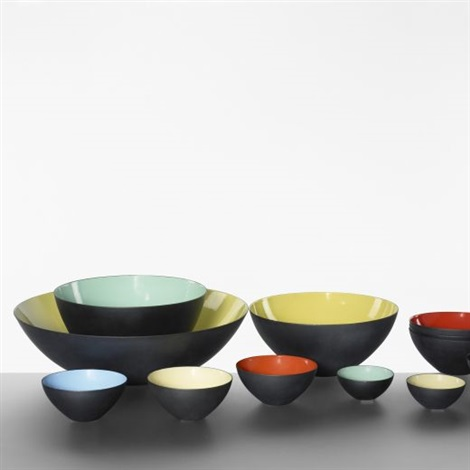 krenit bowls set of 12 by herbert krenchel