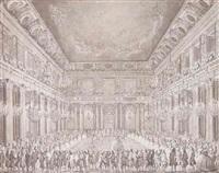interior fra christiansborg slot udfort i anledning af hofbal ved christian vii's formæling til den engelske prinsesse caroline mathilde by nicolas-henri jardin