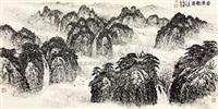 云岭观瀑 by jiao junhua