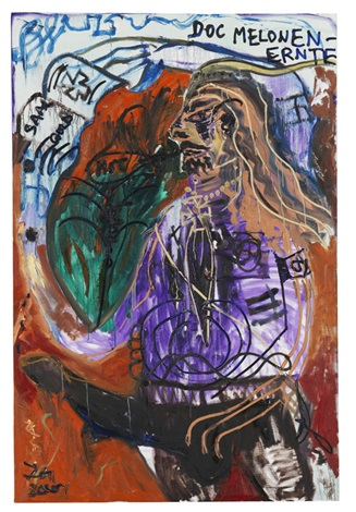 don knurrhahn selbstportrait mit stallpimmel by jonathan meese
