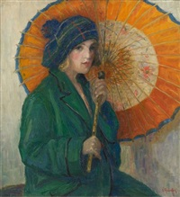 jeune fille à l'ombrelle by irma quintin