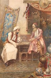 les joueurs de backgammon by umberto cacciarelli