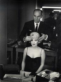 marilyn monroe et son coiffeur sur le tournage du milliardaire by john bryson