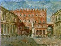 verona, place des messieurs by luciano albertini