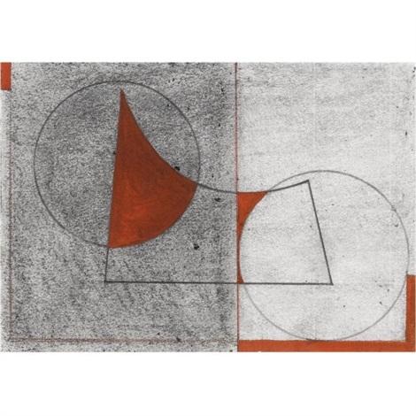 landscape study and grenadine red, no.2 by george dannatt