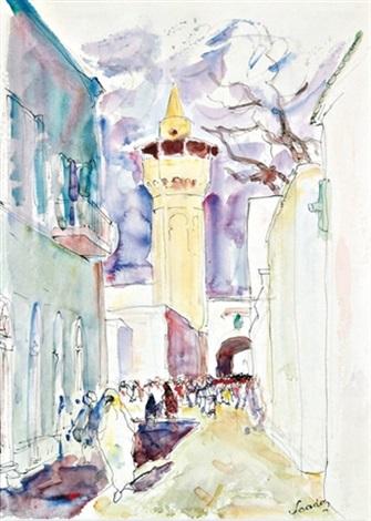 rue de la médina à tunis by henri saada