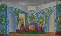 ohne titel (stage design) by rostislav m. dobuzhinsky