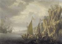 felsige küstenlandschaft mit schiffen by jan peeters the elder