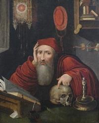 der heilige hieronymus im gehäus by marinus van reymerswaele