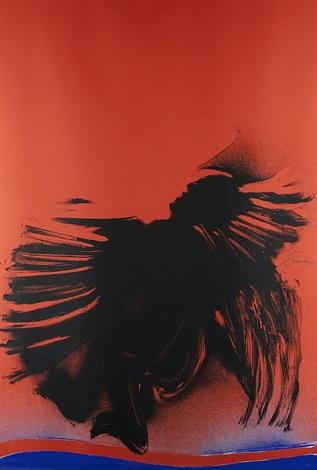 ohne titel komposition in schwarz rot und blau by otto piene