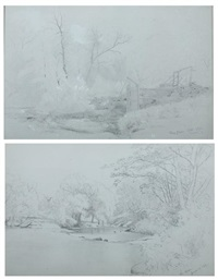 view at stony clove (+ the doon; 2 works) by jervis mcentee