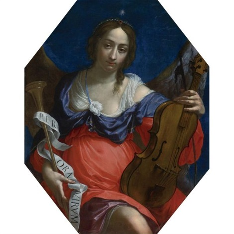 an allegory of fame and music by cesare dandini