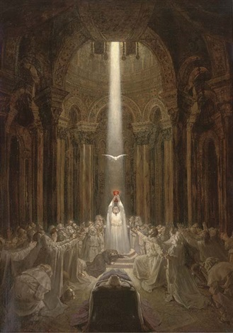 parsifal and the holy grail by seymour millais stone on artnet