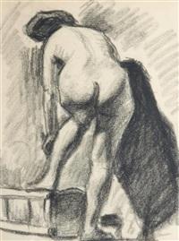 femme de dos se lavant by albert marquet