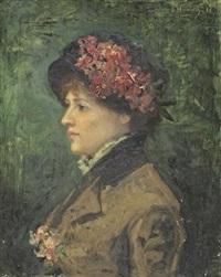 femme au chapeau by ferdinand jacques humbert