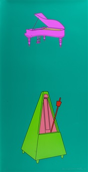 piano and metronome by michael craig-martin