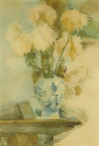 still life with flowers by herman kruyder