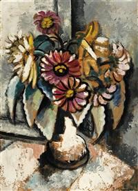 stilleben mit blumenstrauß in weißer vase by jeanne mammen