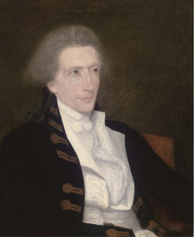 portrait of captain george burdett in full dress by lemuel francis abbott
