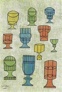 goblets ii by anwar jelal shemza